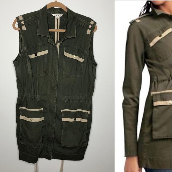 CAbi Jackets & Blazers - Cabi 722 olive military anorak vest jacket Large